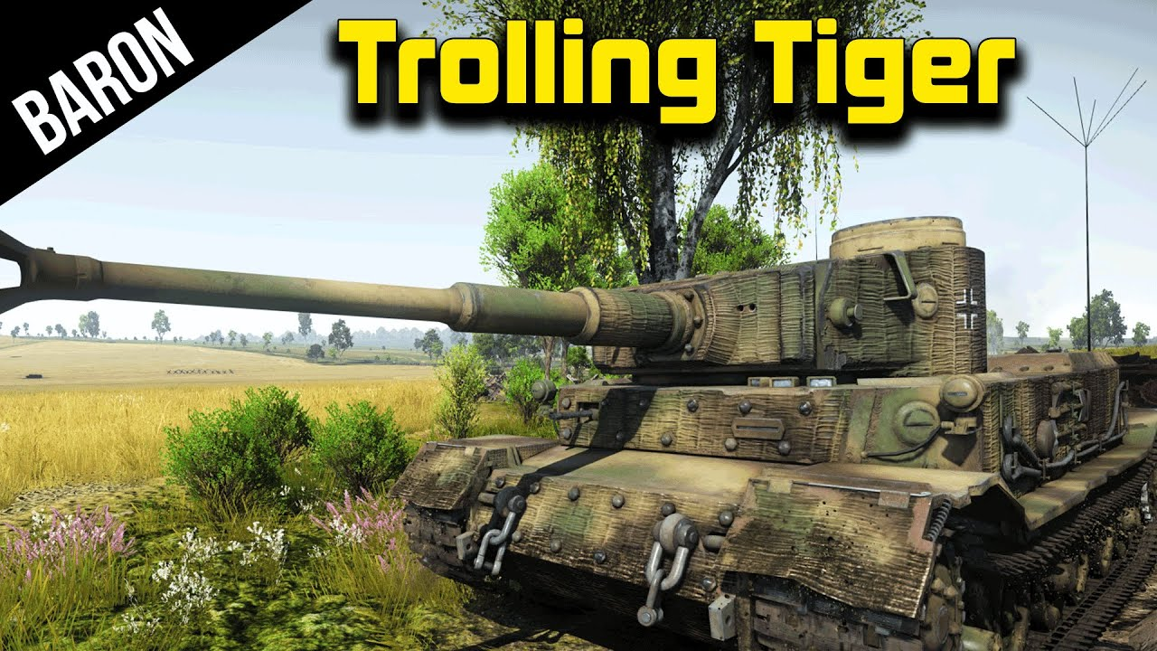 War Thunder Trolling Tiger The Porsche Tiger Tank