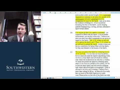 Systematic Theology II - Week 8 Notes - The Doctrine of the Holy Spirit 2