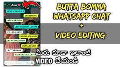 Whatsapp Video Chat Template Editing   Asif MA