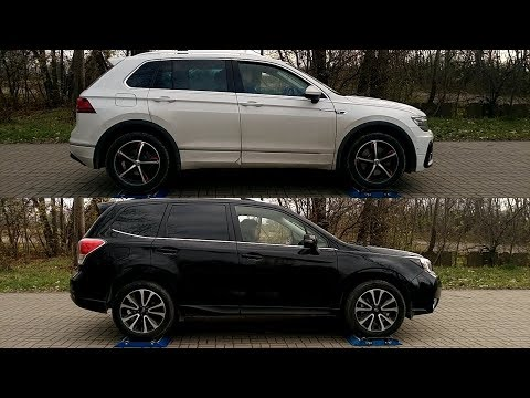 Part 1: Volkswagen Tiguan 4MOTION vs Subaru Forester XT S-AWD - 4x4 test on rollers