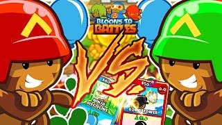 1V1 EPIC CARD BATTLE SHOWDOWN WITH TEWTIY! - BLOONS TOWER DEFENSE BATTLES! | JeromeASF