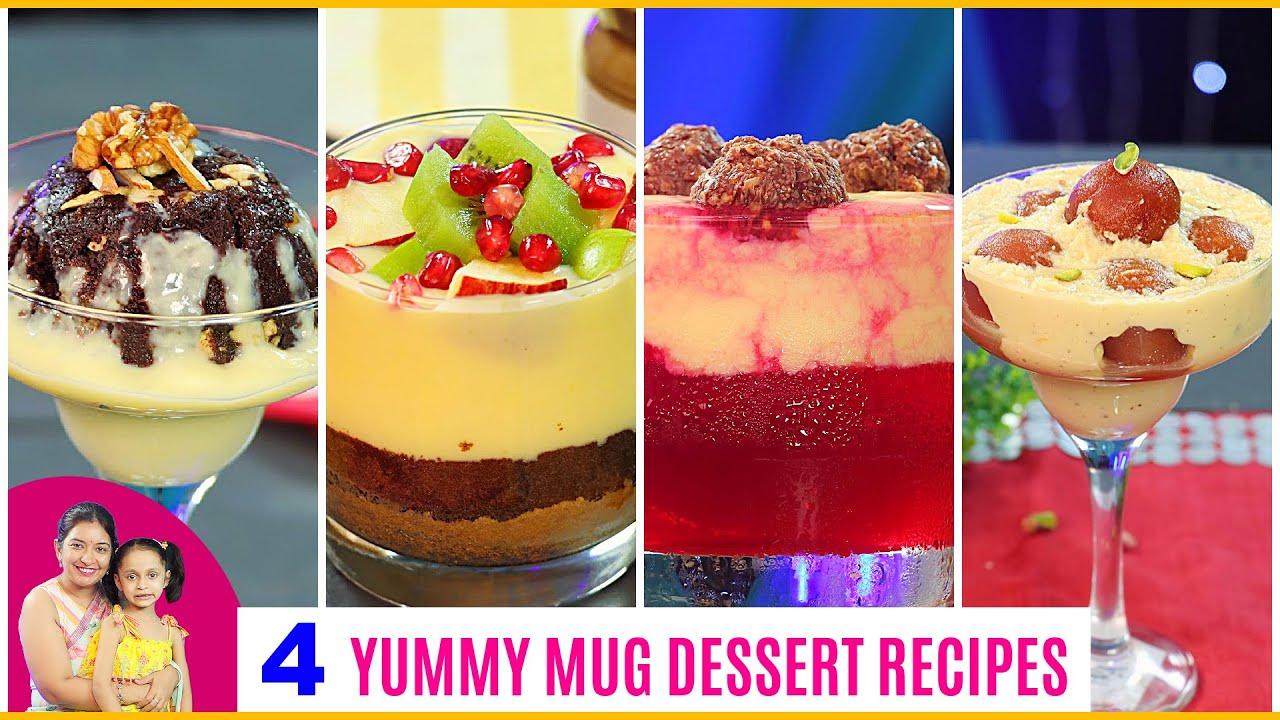 4 SWEET/DESSERT Recipe in MUG | CookWithNisha