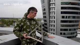 Промышленный альпинизм в Москве.