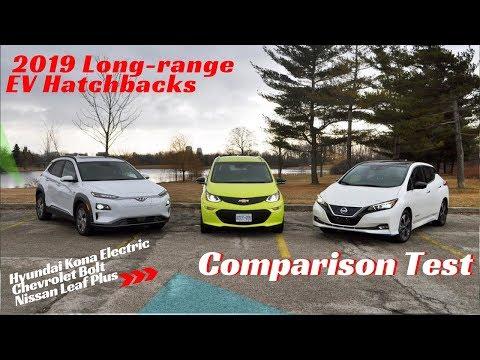2019 Chevrolet Bolt vs Hyundai Kona Electric vs Nissan Leaf Plus