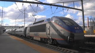 (Awesome Hornshows) Amtrak Railfanning at Hamilton (Including Holiday Extras)