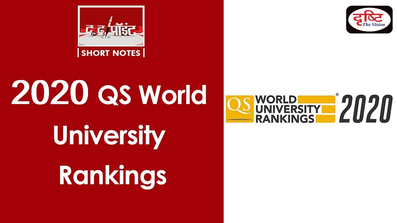 QS World University Rankings–2020 - To The Point