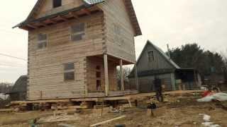 домик едет быстро(Передвижка дома на новый фундамент., 2014-03-08T16:11:20.000Z)
