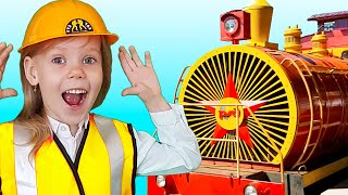 Funny train story with Vitalina life for kids