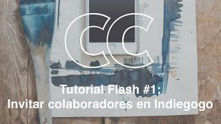 Tutorial flash #1: ¿Cómo invitar colaboradores en Indiegogo?