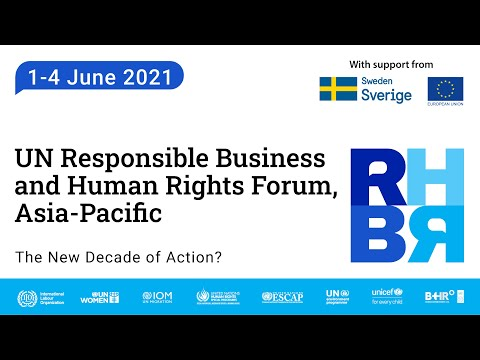 2021 UN Responsible Business and Human Rights Forum, Asia Pacific