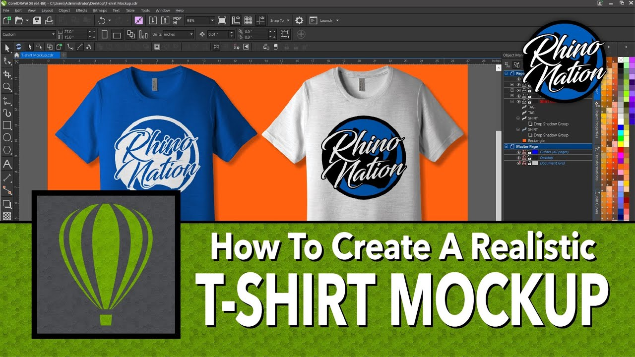 Download Free T Shirt Mockup Template Coreldraw Yellowimages