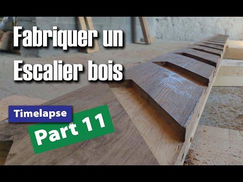 Rénovation d'une grange part 11 : Fabrication complète d'un escalier en bois (chêne)