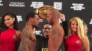 Lamont Roach Jr vs Alberto Mercado FACE OFF at WEIGH IN