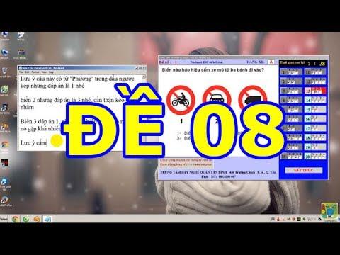 Mẹo thi bằng lái xe A1- 150 câu hỏi thi bằng lái xe A1 (Đề số 8 có tiếng) thibanglaixehn.com