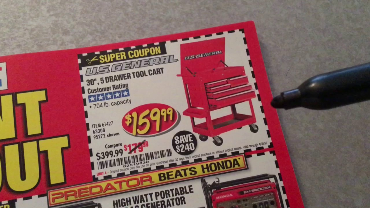 harbor freight tool cart coupon youtube. Black Bedroom Furniture Sets. Home Design Ideas