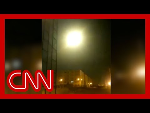 Video appears to show Ukrainian airliner being hit