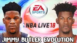 Jimmy Butler Evolution - Face Comparison (NCAA Basketball 09 - NBA Live 18)