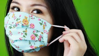 EASY Step by Step 🤗 How to Make Fabric Face Mask with Filter Pocket