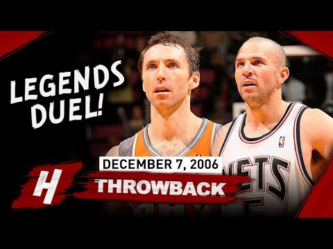 Steve Nash Vs Jason Kidd LEGENDS PG Duel Highlights 2006.12.07 - EPIC Scoring Game!