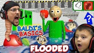 BALDI LOVES APPLES! Flooded \u0026 Foggy School Hallways! (FGTEEV 🍎 BALDI's BASICS FULL GAME!)
