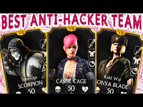 MKX Mobile 1.14. AWESOME Punk Cassie Cage HACKER DESTROYER Team! You Will OWN Faction Wars!