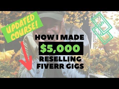 fiverr arbitrage Make $3k per month reselling Fiverr gigs 2018