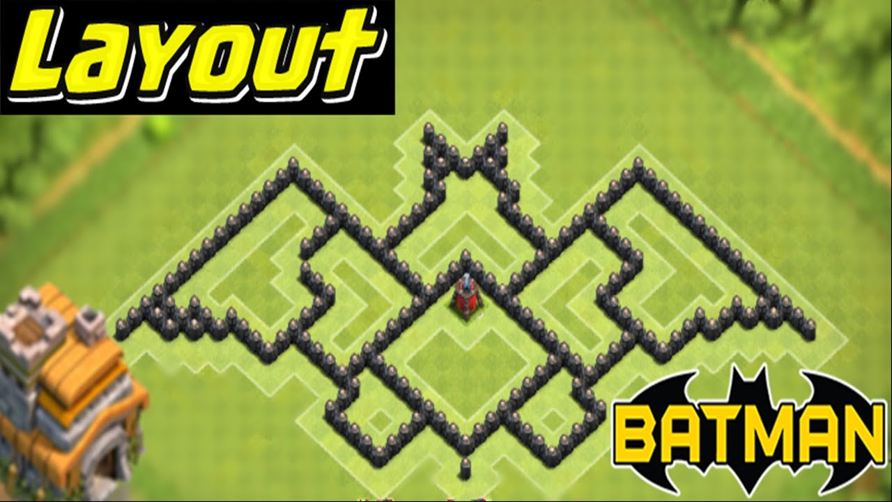 layout batman cv 7 com  dispersor aereo  clash of clans