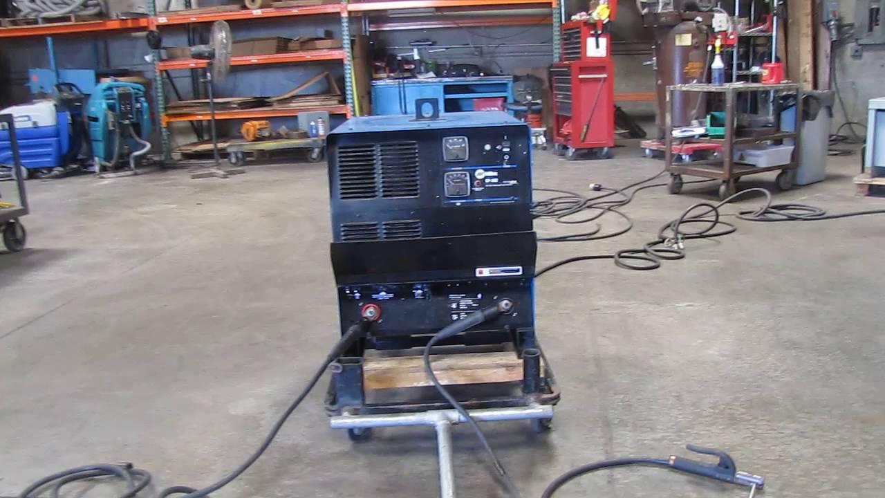 Miller CP-302 CV DC Welder Power Source for Mig Wire Feeder - YouTube