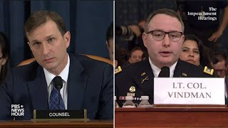 WATCH: Democratic counsel's full questioning of Vindman and Williams | Trump impeachment hearings
