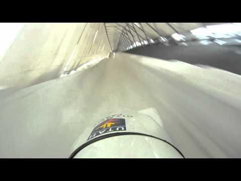 Bobsled Helmet Cam down the Bobsled Track - Utah Olympic Park