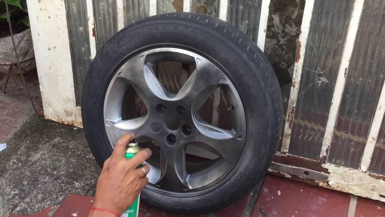 Pintura de roda em spray na cor cinza grafite  YouTube