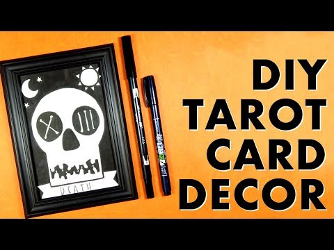 Diy Tarot Card Decor Easy To Draw With Step By Step