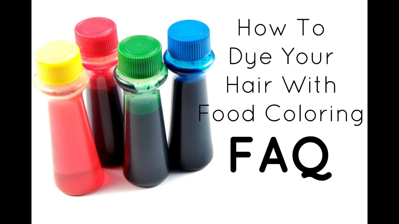 FAQ: How To Dye Your Hair With Food Coloring - YouTube