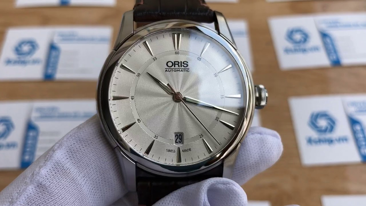 8addfb2a9 Xship.vn: Oris Artelier Date Silver Dial Brown Leather Mens Watch  733-7670-4051LS by Xship.vn