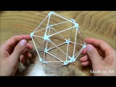 How to make a Cotton Swab Icosahedron