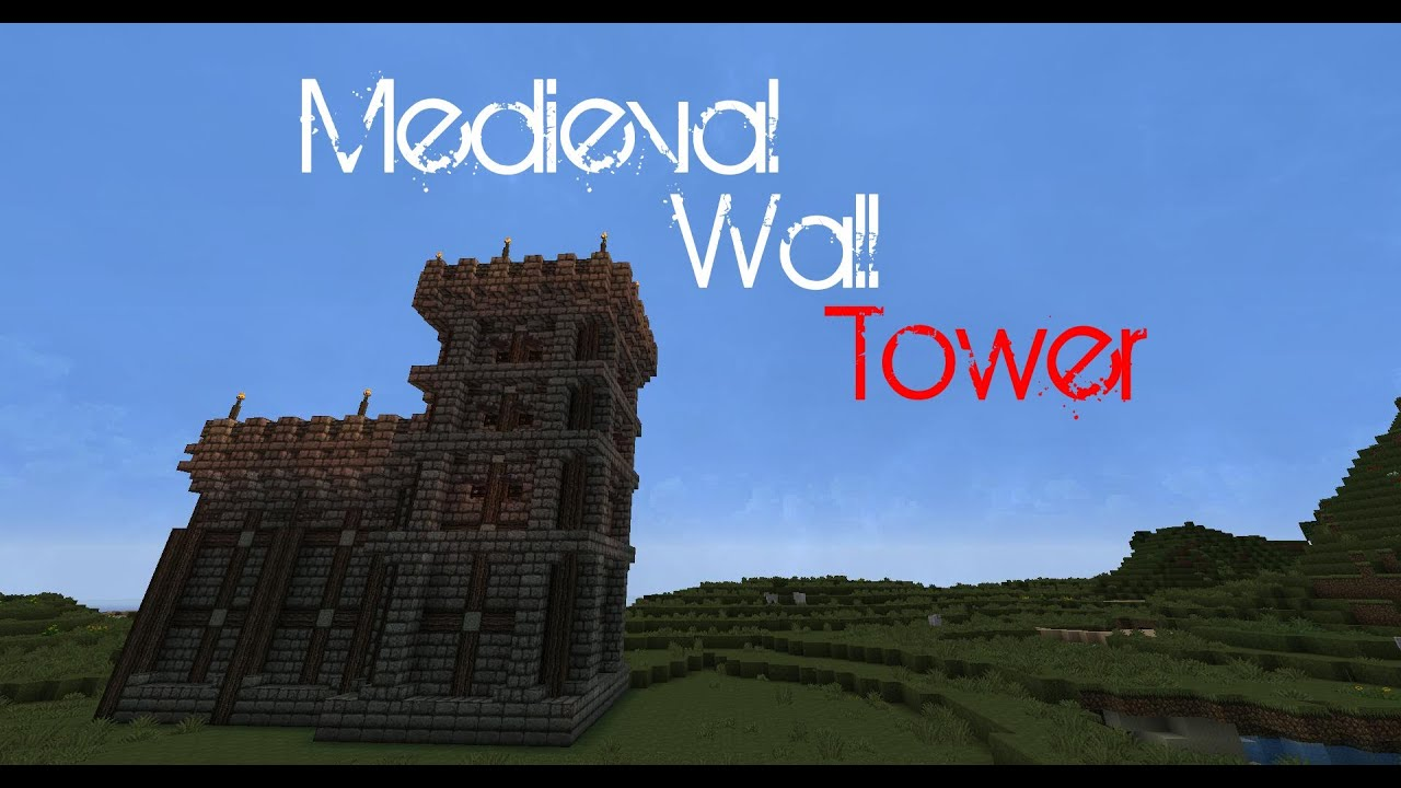 Minecraft Medieval Wall Tutorial Tower Youtube