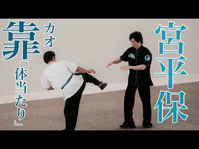宮平保 靠(カオ)・間合いを制す   Kao technique & training