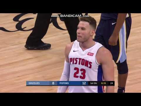 Blake Griffin 24 Pts vs. Grizzlies - Detroit Pistons vs. Memphis Grizzlies - 01/02/2018