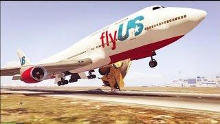 GTA 5 ZOEIRA TOTAL - Missão Impossível 1 : Roube um avião no aeroporto !