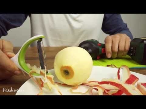 Peeling Fruit with a Drill