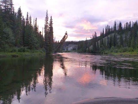 Canoeing the Big Salmon River, Yukon Canada