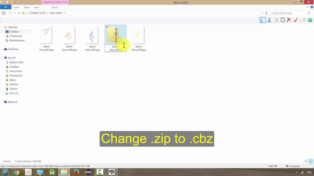 Manga Studio 5 / Clip Studio Paint: Creating a CBZ File