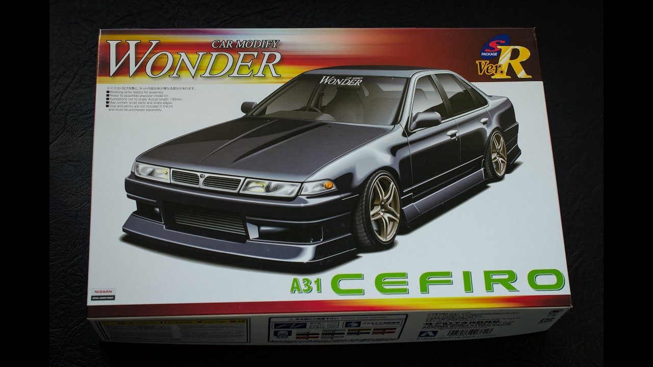 Aoshima 1 24 Nissan Cefiro A31 Model Kit Unboxing And