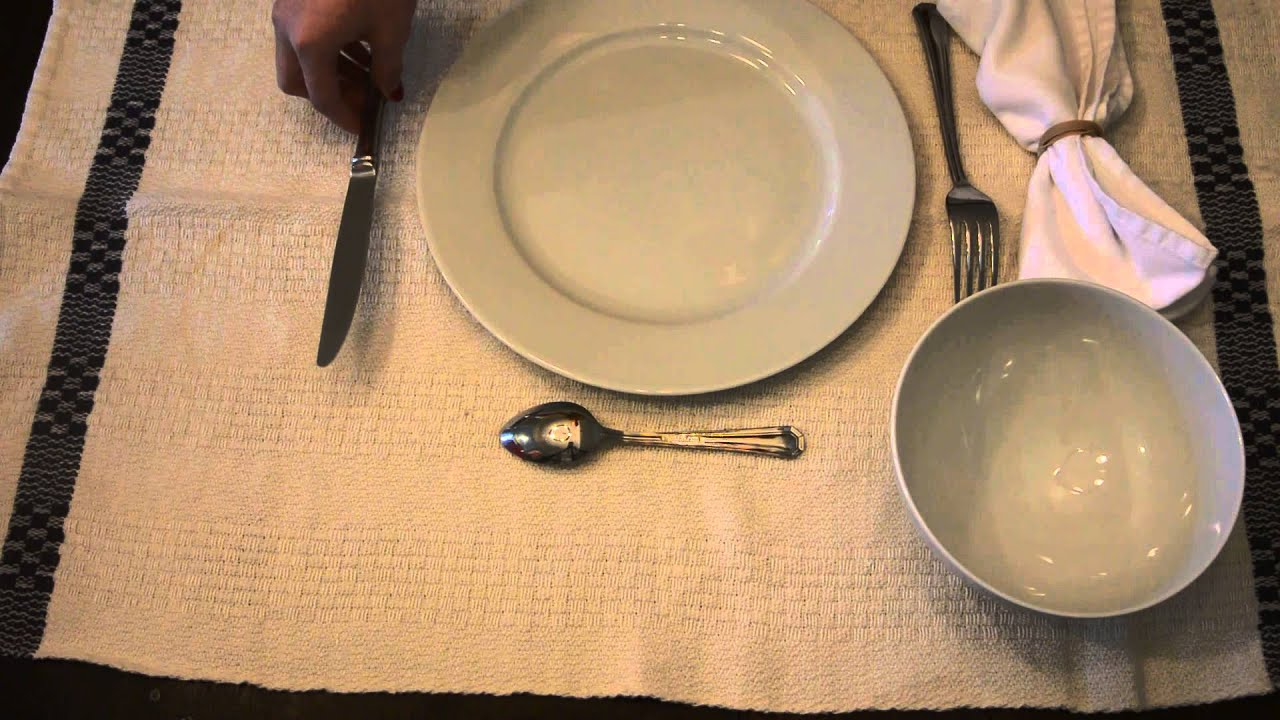 French Table Setting - YouTube