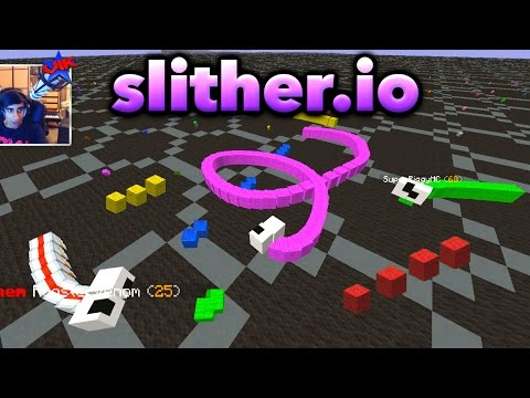 FIRST PERSON SLITHER.IO IN MINECRAFT!