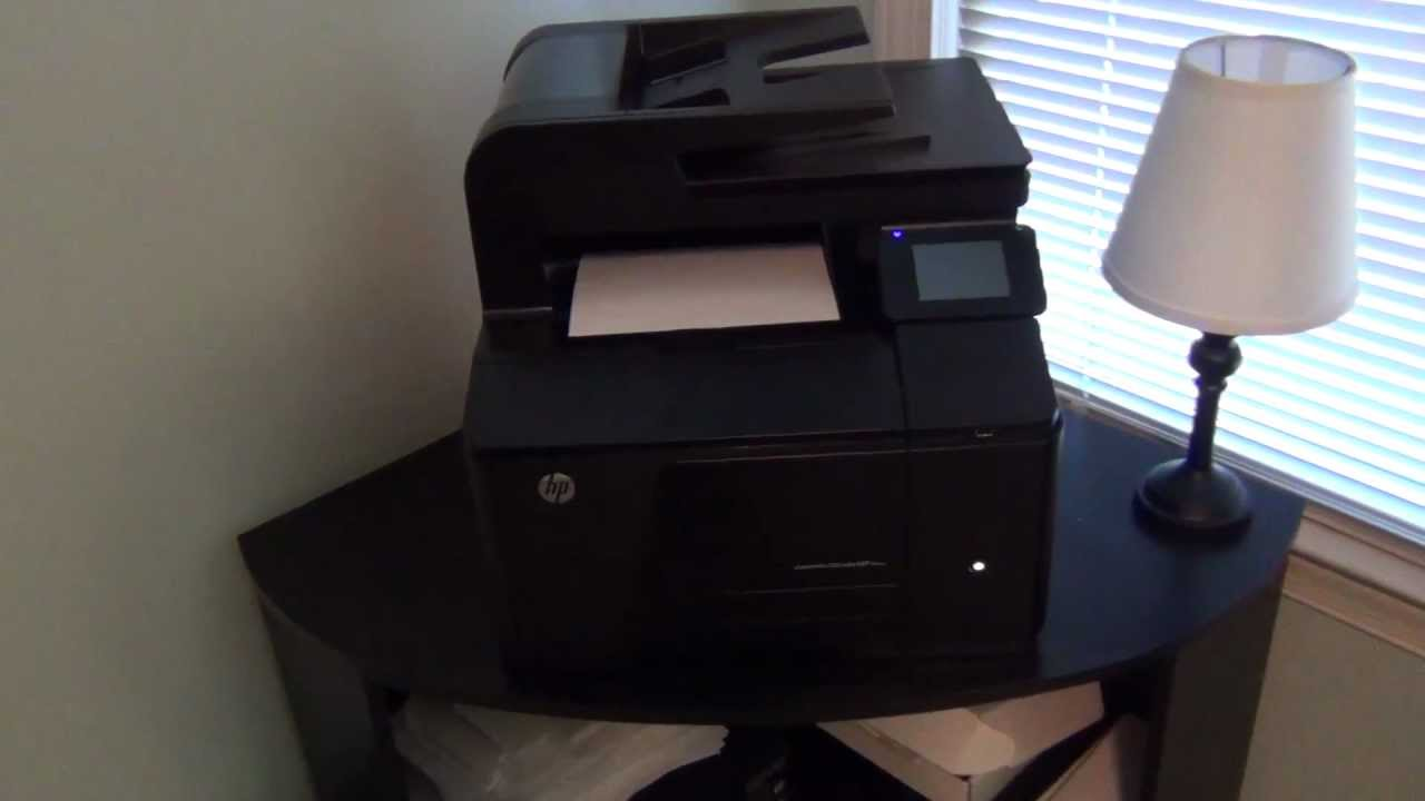 Hp Laserjet Pro 200 Colour Mfp M276nw Demonstration Youtube
