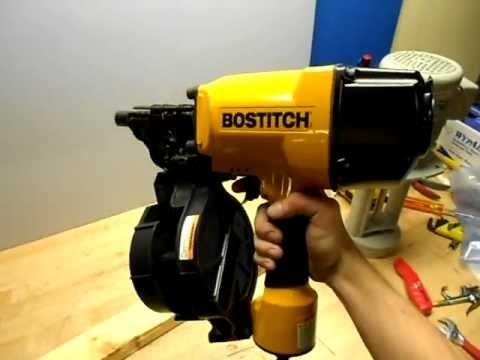 Bostitch Pneumatic Nail Gun - YouTube