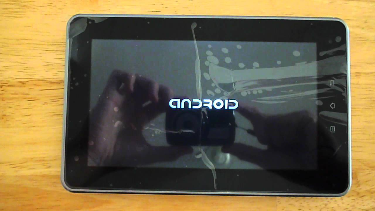 Tablet stuck on Android introductory screen