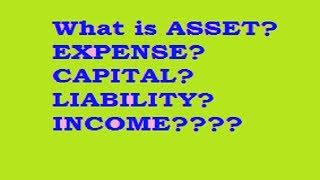 What is Asset? Expense? Capital? Liability? Income/revenue/gain????? thumbnail
