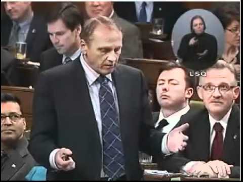Rob Anders (Conservative MP) falls asleep in Parliament